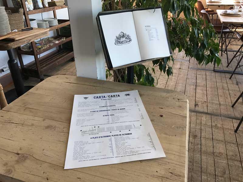 De menukaart van Restaurant Ultramar