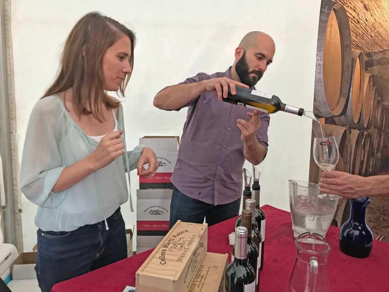 Wijn proeven bij Cellers Martí Fabra