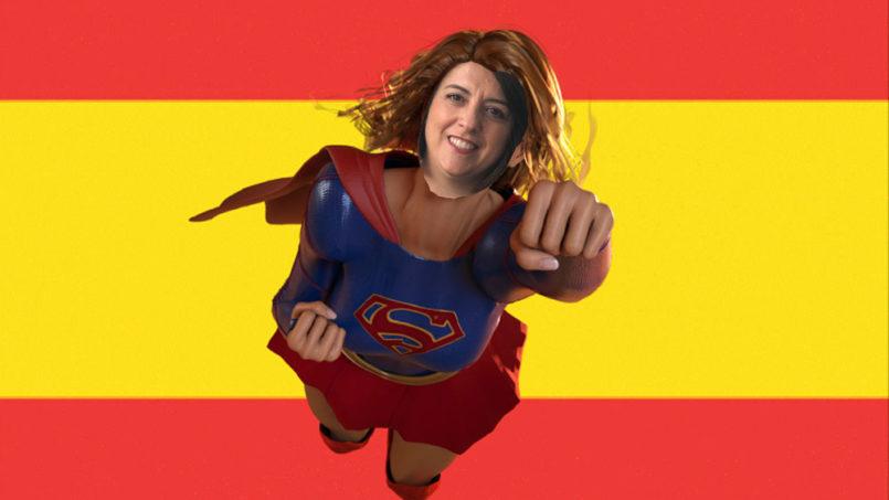 Spaanse les met Marta Mas